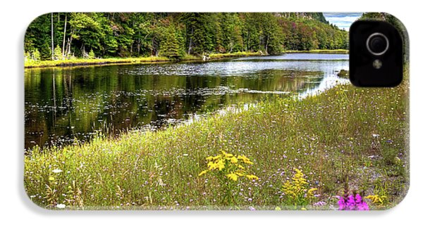 IPhone 4 Case featuring the photograph August Flowers On The Pond by David Patterson
