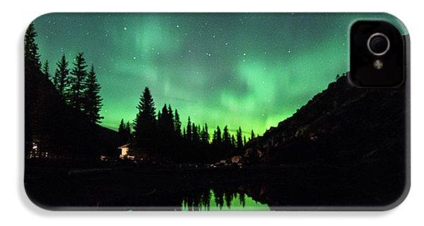 Aurora On Moraine Lake IPhone 4 Case by Alex Lapidus