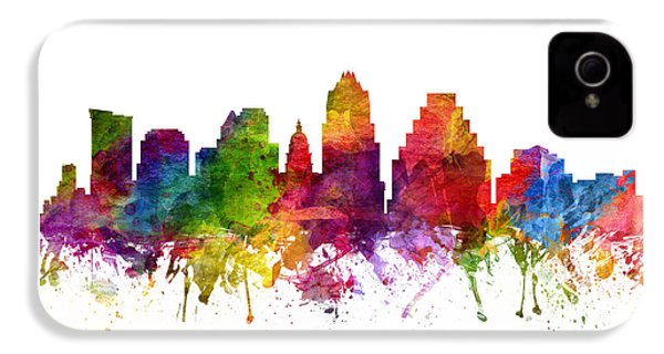 Austin Cityscape 06 IPhone 4 Case by Aged Pixel