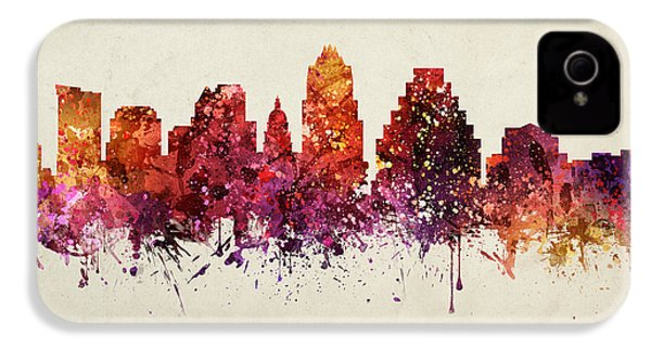 Austin Cityscape 09 IPhone 4 Case by Aged Pixel