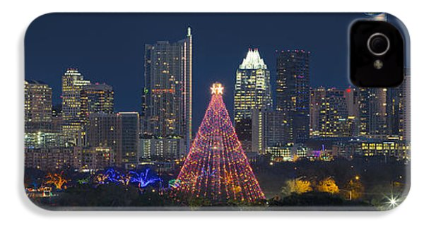 Austin Panorama Of The Trail Of Lights And Skyline IPhone 4 Case