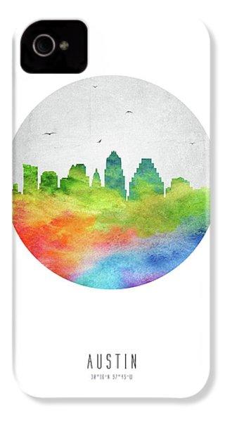 Austin Skyline Ustxau20 IPhone 4 Case by Aged Pixel