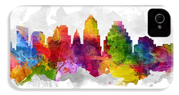 Austin Texas Cityscape 13 IPhone 4 Case by Aged Pixel