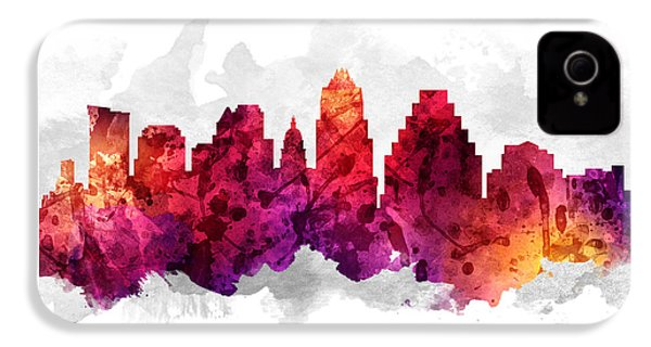 Austin Texas Cityscape 14 IPhone 4 Case by Aged Pixel