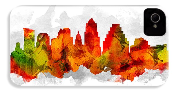 Austin Texas Cityscape 15 IPhone 4 Case by Aged Pixel