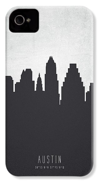 Austin Texas Cityscape 19 IPhone 4 / 4s Case by Aged Pixel