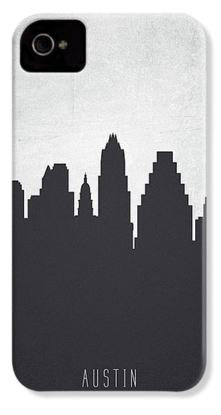 Austin Texas Cityscape 19 IPhone 4 Case by Aged Pixel