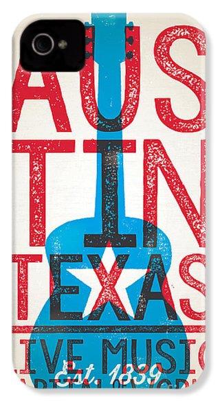 Austin Texas - Live Music IPhone 4 Case