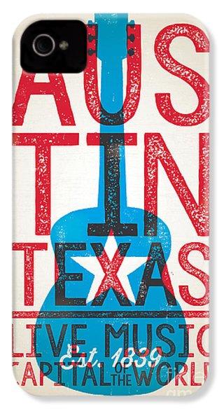 Austin Texas - Live Music IPhone 4 Case by Jim Zahniser