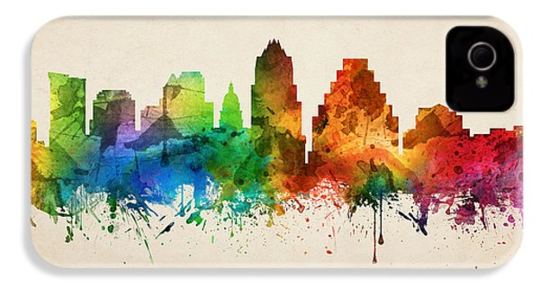 Austin Texas Skyline 05 IPhone 4 Case by Aged Pixel