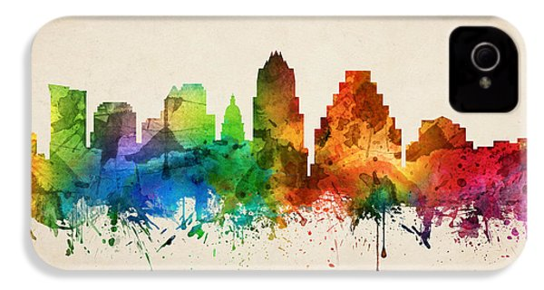 Austin Texas Skyline 05 IPhone 4 / 4s Case by Aged Pixel
