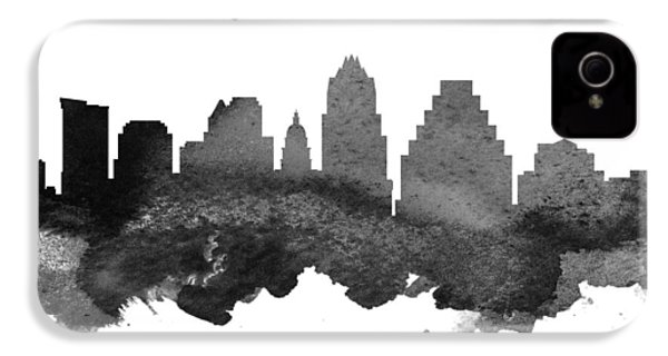Austin Texas Skyline 18 IPhone 4 Case by Aged Pixel