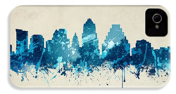 Austin Texas Skyline 20 IPhone 4 Case by Aged Pixel