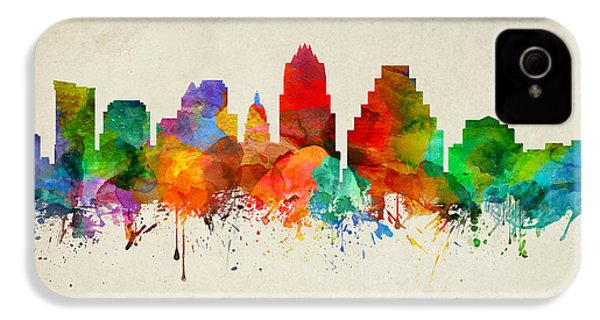 Austin Texas Skyline 22 IPhone 4 Case by Aged Pixel