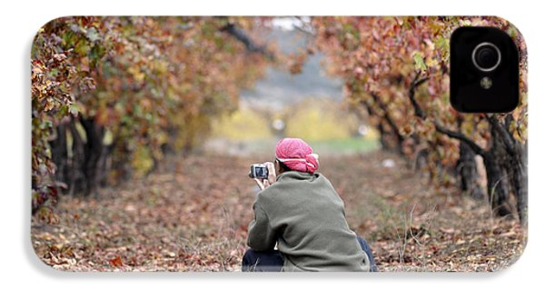 IPhone 4 Case featuring the photograph Autumn At Lachish Vineyards 1 by Dubi Roman
