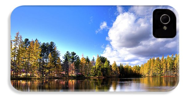 IPhone 4 Case featuring the photograph Autumn Calm At Woodcraft Camp by David Patterson