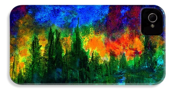 IPhone 4 Case featuring the painting Autumn Fires by Claire Bull