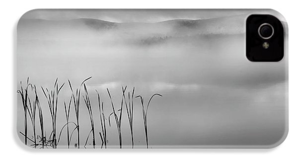 IPhone 4 Case featuring the photograph Autumn Fog Black And White Square by Bill Wakeley