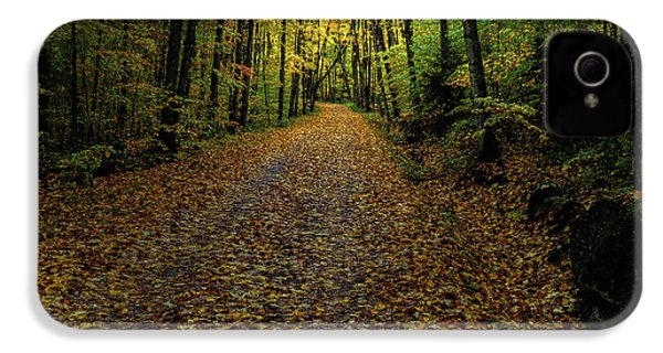 IPhone 4 Case featuring the photograph Autumn Leaves On The Trail by David Patterson