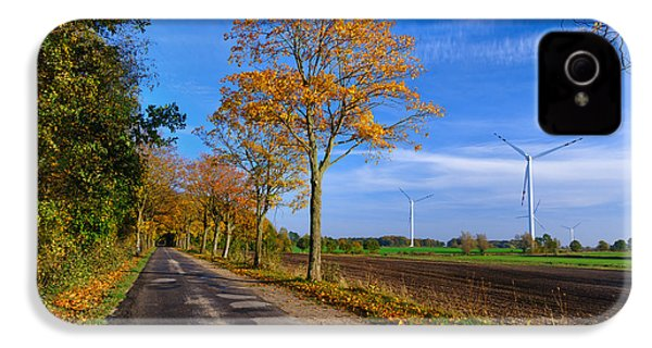 Autumn On A Back Road IPhone 4 Case