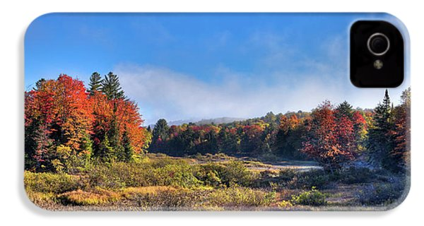 IPhone 4 Case featuring the photograph Autumn Panorama At The Green Bridge by David Patterson