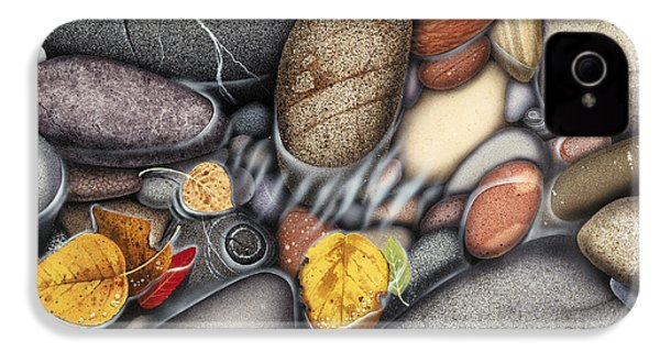 Autumn Stones IPhone 4 Case by JQ Licensing