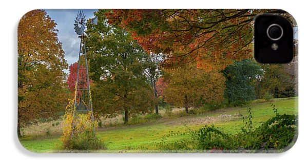 IPhone 4 Case featuring the photograph Autumn Windmill by Bill Wakeley