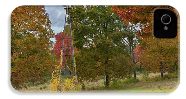 IPhone 4 Case featuring the photograph Autumn Windmill Square by Bill Wakeley