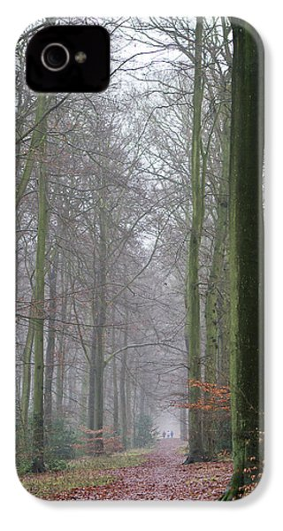 Autumn Woodland Avenue IPhone 4 Case by Gary Eason
