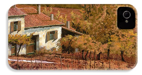 Autunno Rosso IPhone 4 Case by Guido Borelli