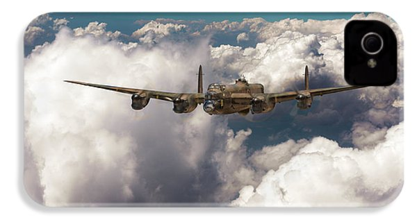 IPhone 4 Case featuring the photograph Avro Lancaster Above Clouds by Gary Eason
