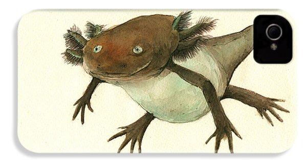 Axolotl IPhone 4 / 4s Case by Juan Bosco