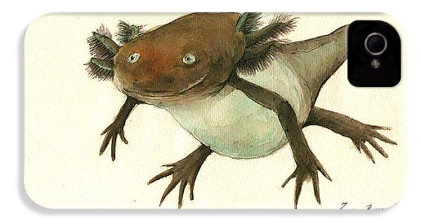 Axolotl IPhone 4 Case by Juan Bosco