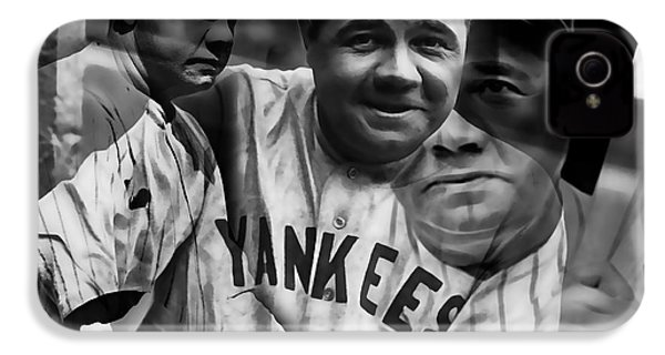 Babe Ruth Collection IPhone 4 / 4s Case by Marvin Blaine
