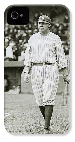 Babe Ruth Going To Bat IPhone 4 Case