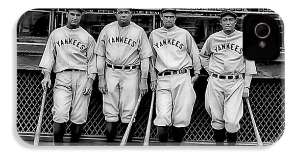 Babe Ruth Lou Gehrig And Joe Dimaggio IPhone 4 Case
