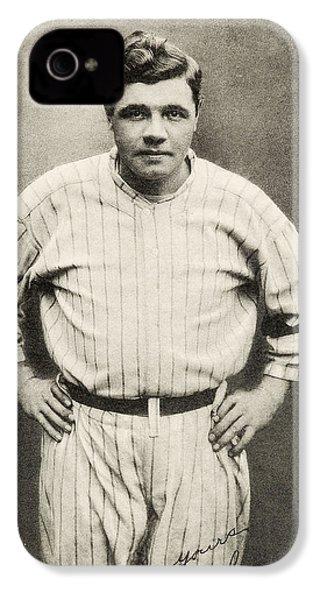 Babe Ruth Portrait IPhone 4 Case