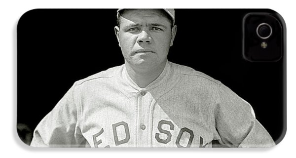 Babe Ruth Red Sox IPhone 4 Case by Jon Neidert