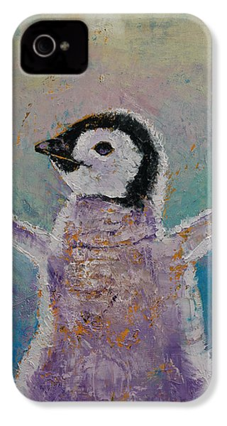 Baby Penguin IPhone 4 / 4s Case by Michael Creese