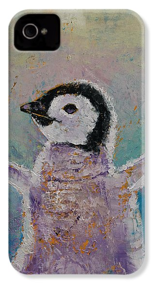 Baby Penguin IPhone 4 Case by Michael Creese