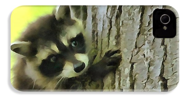 Baby Raccoon In A Tree IPhone 4 Case
