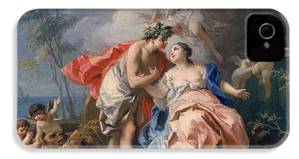 Bacchus And Ariadne IPhone 4 Case by Jacopo Amigoni