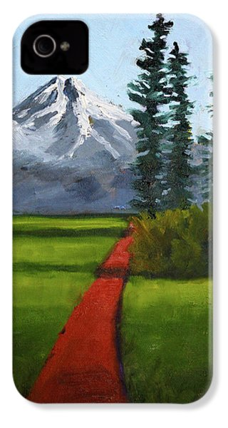 IPhone 4 Case featuring the painting Baker Meadow by Nancy Merkle