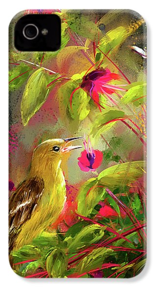 Baltimore Oriole Art- Baltimore Female Oriole Art IPhone 4 / 4s Case by Lourry Legarde