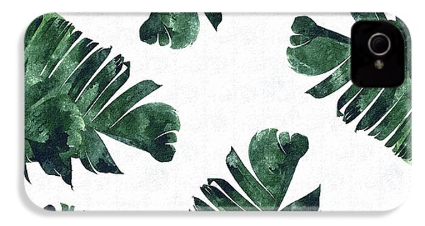 Banan Leaf Watercolor IPhone 4 Case