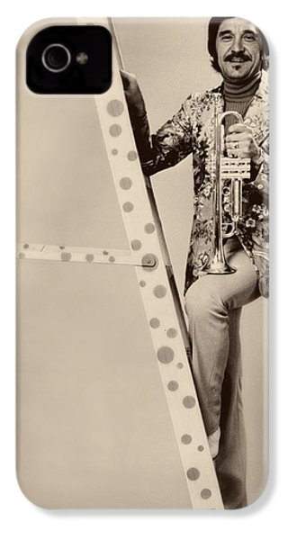 Band Leader Doc Serverinsen 1974 IPhone 4 Case by Mountain Dreams