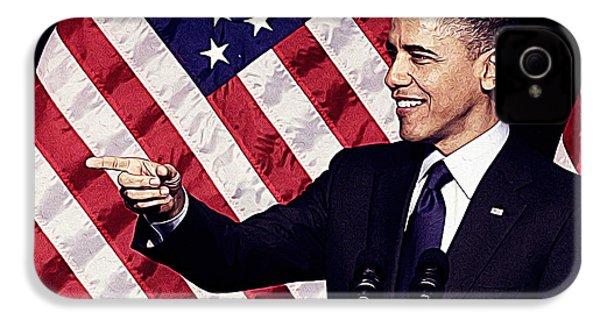 Barack Obama IPhone 4 Case by Iguanna Espinosa