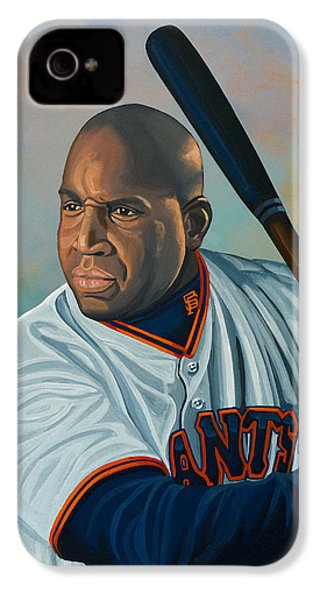 Barry Bonds IPhone 4 Case by Paul Meijering