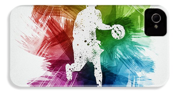 Basketball Player Art 16 IPhone 4 Case by Aged Pixel