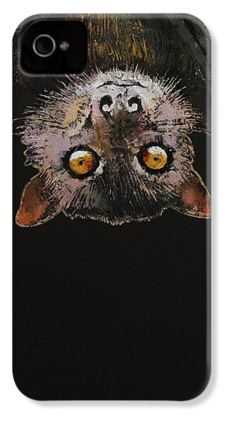 Bat IPhone 4 Case by Michael Creese